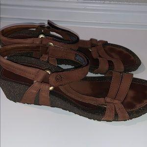 Teva Light Brown Wedge Cork Women's sandal